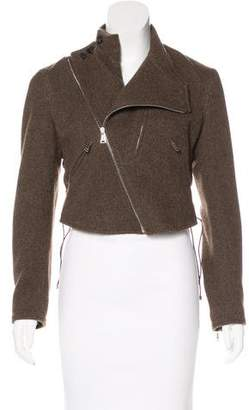 Ralph Lauren Black Label Leather-Accented Wool Jacket