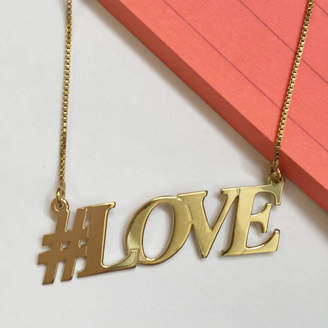 Anna Lou of London Hashtag Love Necklace