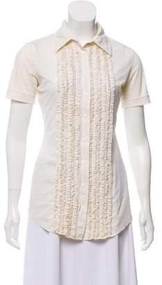 Jean Paul Gaultier Short Sleeve Button-Up Top
