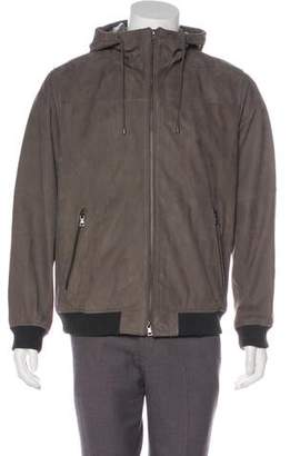 Vince Suede Hooded Jacket w/ Tags