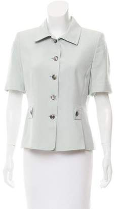 Akris Silk Short Sleeve Blazer