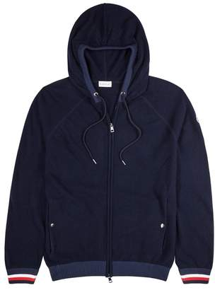 Moncler Navy Hooded Wool Jumper