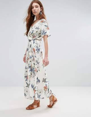 MinkPink Mink Pink Garden Party Wrap Front Maxi Dress