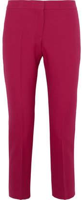 Alexander McQueen Cropped Wool-blend Straight-leg Pants - Fuchsia