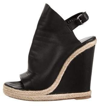 Balenciaga Leather Round-Toe Sandals