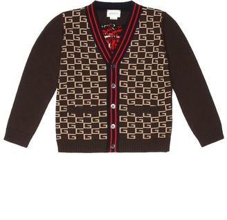Gucci Kids Square G wool cardigan