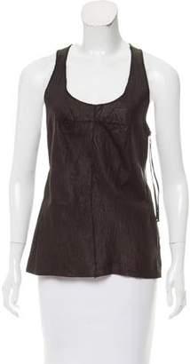 Illia Sleeveless Leather Top