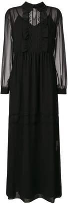P.A.R.O.S.H. lace inserts maxi dress