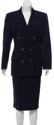 Christian Dior Double-Breasted Skirt Suit
