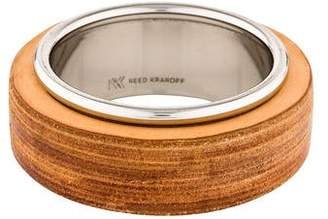 Reed Krakoff Textured Leather Wide Bangle