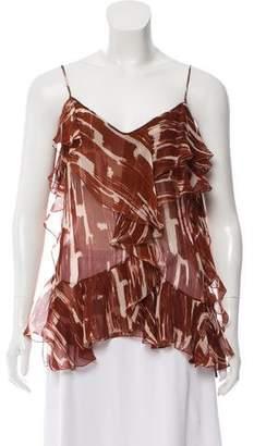 Bottega Veneta Silk Printed Sleeveless Top w/ Tags