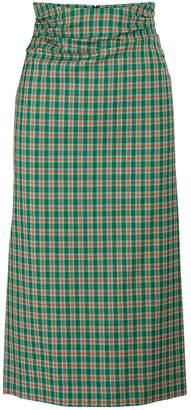 Dries Van Noten Plaid midi skirt