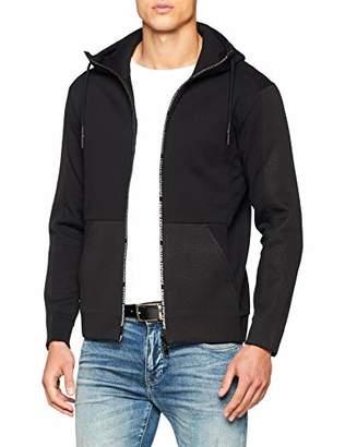 Armani Exchange A|X Men's Mesh Detailed Cotton Zip-Up Hoodie