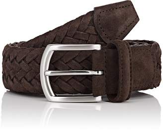 Barneys New York Men's Braided Suede Belt