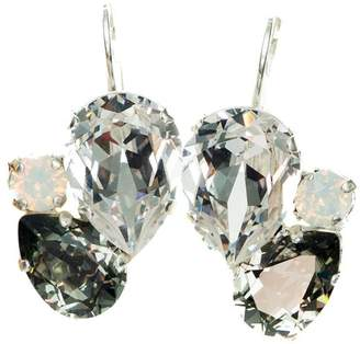 Isabella Collection Tropea Crystal Pear Cluster Earrings