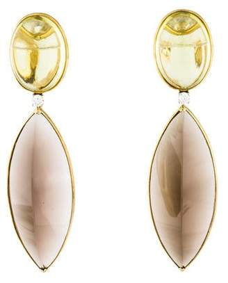 Faraone Mennella 18K Multistone Drop Earrings