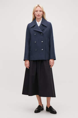 Cos SHORT WOOL PEA COAT