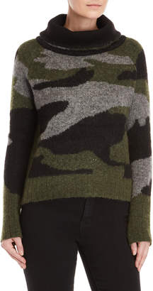 RD Style Camo Funnel Neck Sweater