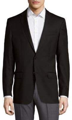 Versace Long Sleeve Wool Blazer