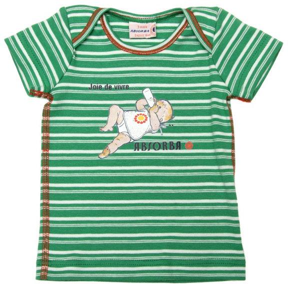 Absorba Vintage Green Stripe T-Shirt