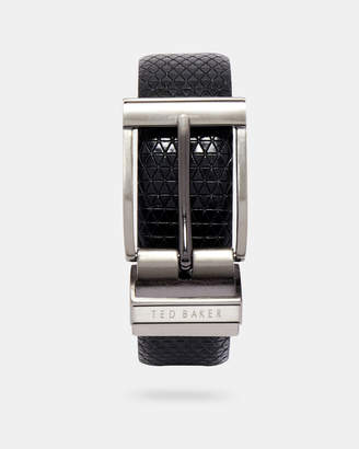 Ted Baker TATTI Reversible textured leather belt