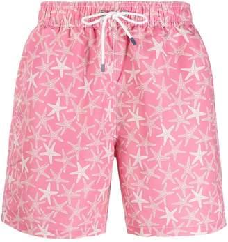 Hackett Star print swim shorts