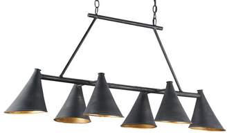 Currey and Company Culpepper Rectangular Chandelier, French Black