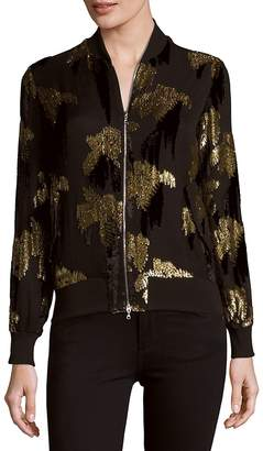 ADAM by Adam Lippes Women's Sequined Bomber Jacket - Black