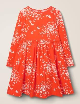 Boden Printed Twirly Jersey Dress