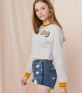 Garage Cropped Crew Neck Zippie - FINAL SALE