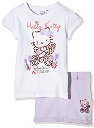 Hello Kitty Girl's Cycling 2 Pcs Outfit Clothing Set,(Manufacturer Size:X-Large)