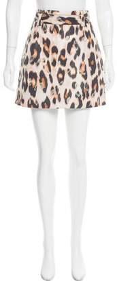 RED Valentino Printed Mini Skirt