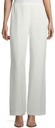 Caroline Rose Silk Crepe Lined Wide-Leg Pants