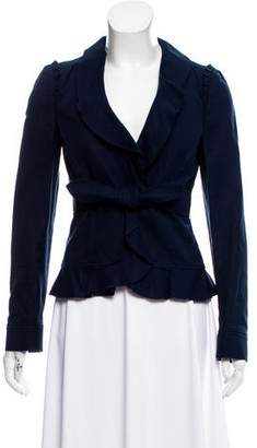 RED Valentino Ruffle-Accented Wool Jacket