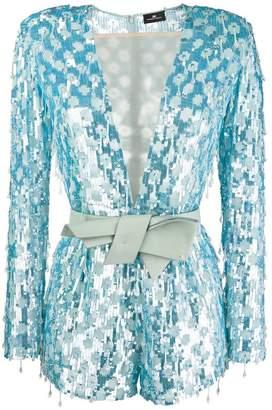 Elisabetta Franchi V-neck sequin dress