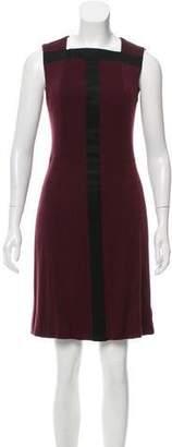 Akris Contrast-Trimmed A-Line Dress