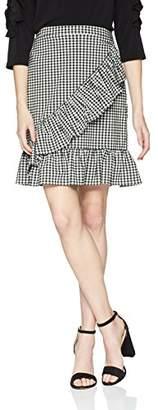 Nanette Lepore Nanette Women's Midi Gingham Frill Skirt
