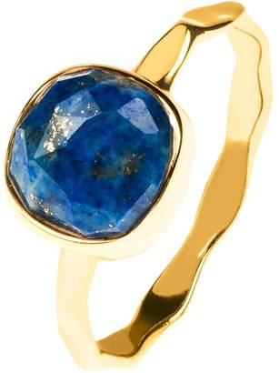 Latelita London - Stacking Ring Gold Lapis Lazuli