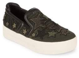 Ash Jeday Embroidered Platform Sneakers