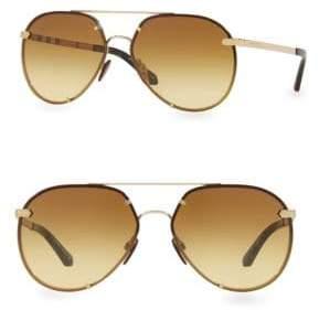 Burberry Grad Aviator Sunglasses