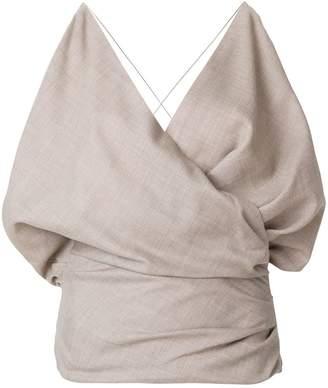 Jacquemus draped camisole top