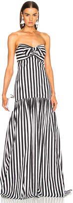 Caroline Constas Strapless Maxi Dress