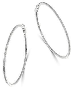 Bloomingdale's Diamond Large Inside-Out Hoop Earrings in 14K White Gold, 1.5 ct. t.w. - 100% Exclusive