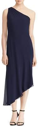 Lauren Ralph Lauren Georgette One-Shoulder Dress