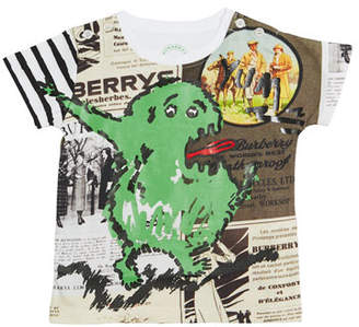 Burberry Green Monster Cotton Tee, Size 12 Months-3 Years