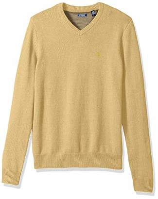 Izod Men's Premium Essentials Fine Gauge Solid V-Neck Sweater