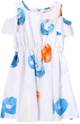 MSGM Cherry Print Cotton Poplin Dress