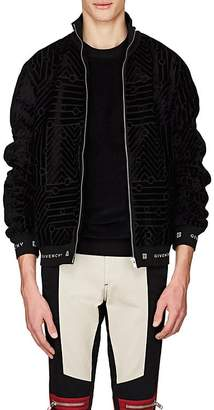 Givenchy Men's Velvet Jacquard Twill Bomber Jacket