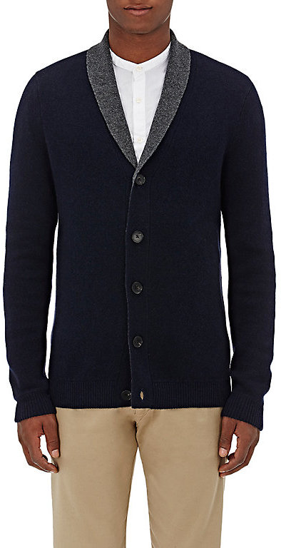 Barneys New York Barneys New York BARNEYS NEW YORK MEN'S DOUBLE-FACED CASHMERE CARDIGAN