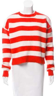 Diane von Furstenberg Striped Angora Wool Sweater